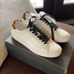 J Crew Sneakers with leopard tab